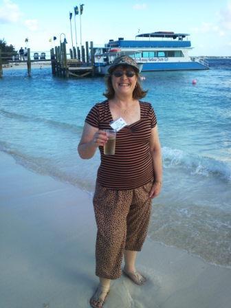 Destination Wedding Designer, Anne Del Vecchio on Sandals Cay, Bahamas